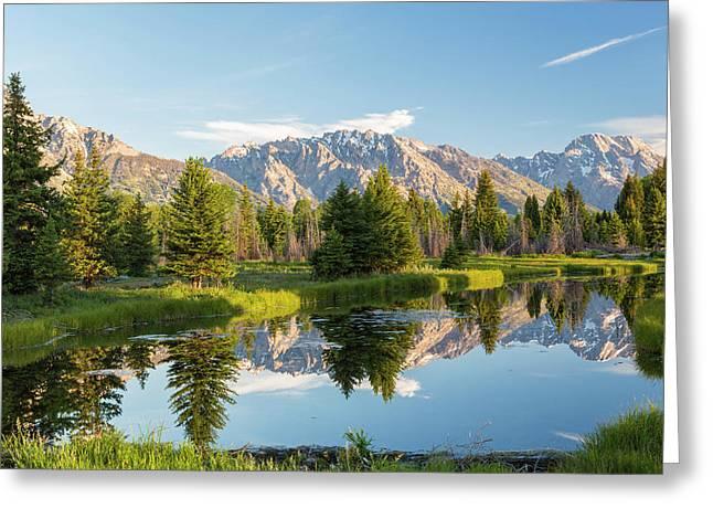 Pond, And Grand Teton's, Grand Teton Greeting Card
