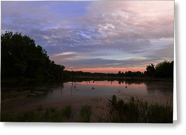 Pond At Carriage Hill Greeting Card by Haren Images- Kriss Haren