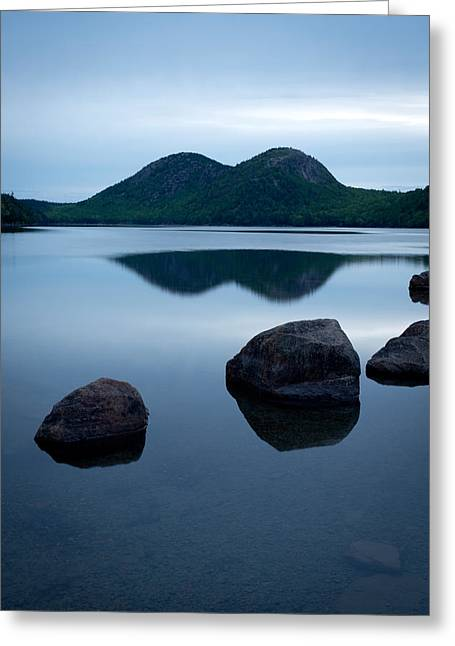 Pond At Dawn, Jordan Pond, Bubble Pond Greeting Card