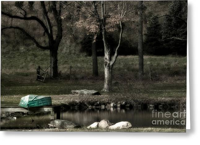 Pond Boat Greeting Card