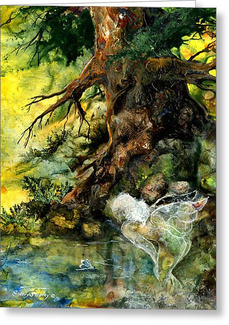 Pond Fairy Greeting Card by Sherry Shipley