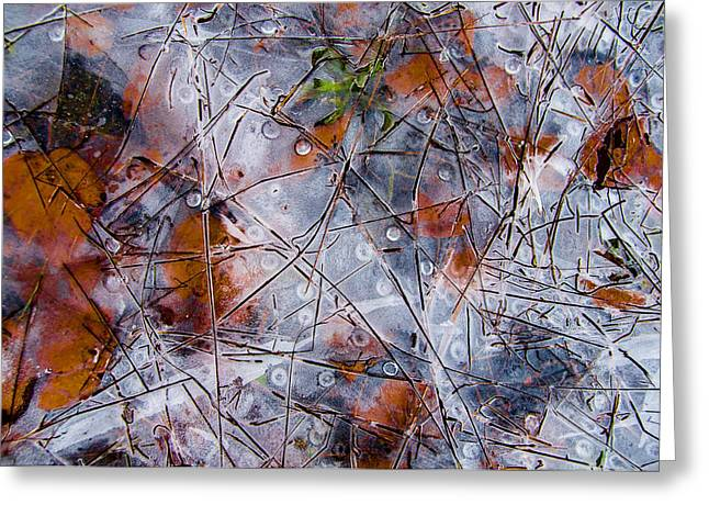 Pond Ice Art Greeting Card