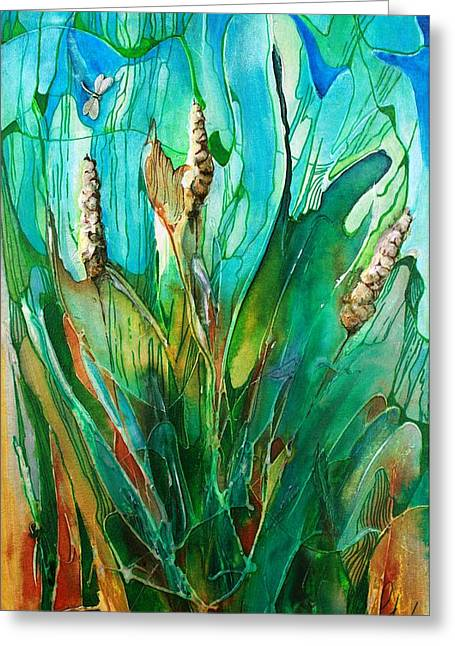 Pond Life Greeting Card by Pat Purdy