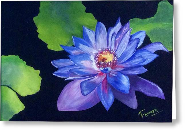 Greeting Card featuring the painting Pond Lily by Patti Ferron