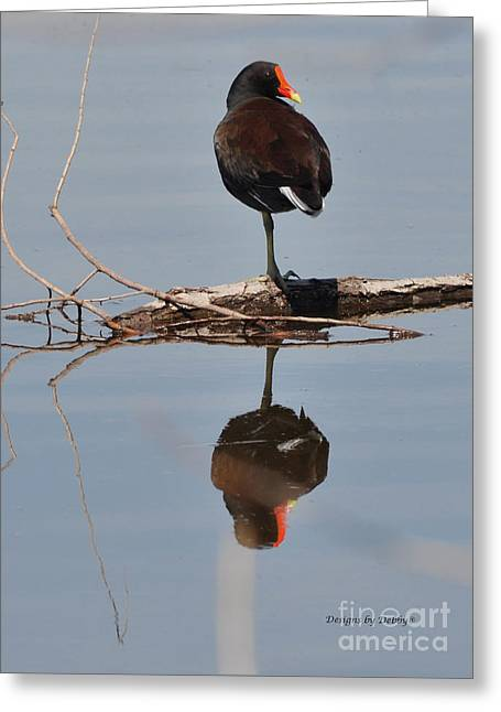 Greeting Card featuring the photograph Pond Reflection by Debby Pueschel