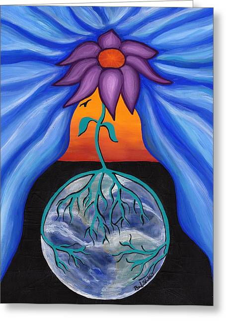 Pondering Creation - Behind The Curtain Greeting Card