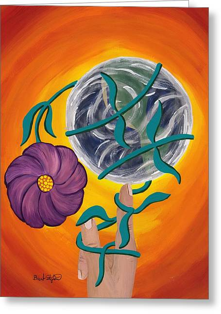 Pondering Creation - Spinning Vines Of Time Greeting Card