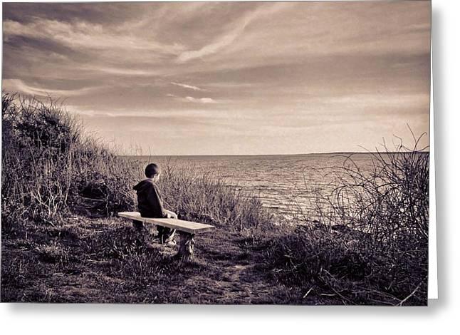 Pondering Greeting Card by Jonathon Shipman