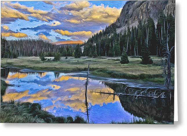 Pondering Reflections Greeting Card by David Kehrli