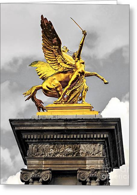 Pont Alexander IIi Fragment In Paris Greeting Card by Elena Elisseeva