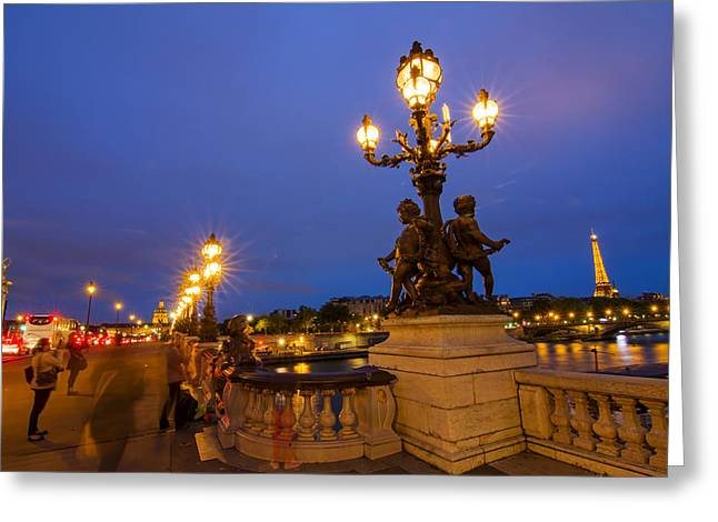Pont Alexandre IIi Greeting Card by Mircea Costina Photography