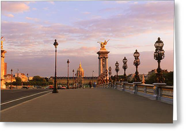 Pont Alexandre IIi With The Hotel Des Greeting Card