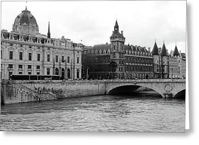 Pont Au Change Over Seine River, Palais Greeting Card