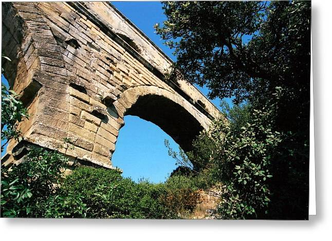 Pont Du Gard Greeting Card by Carrie Warlaumont