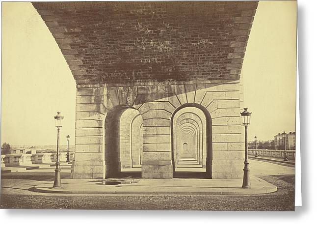 Pont Du Point Du Jour Auguste Hippolyte Collard Greeting Card by Litz Collection