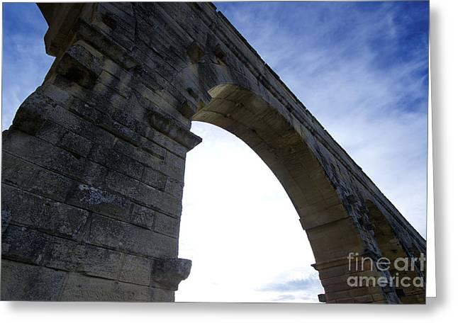 Pont Of Gard. France Greeting Card by Bernard Jaubert