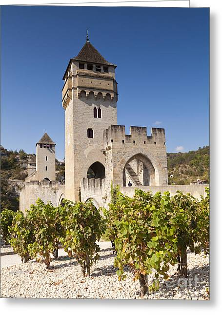 Pont Valentre Cahors Midi-pyrenees France Greeting Card by Colin and Linda McKie