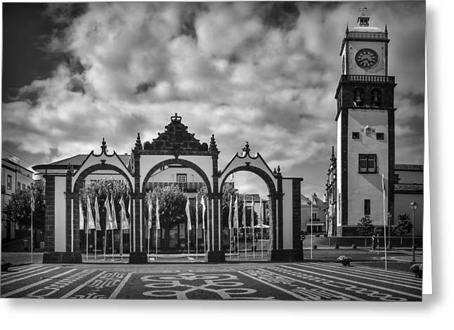 Ponta Delgada Gates Greeting Card