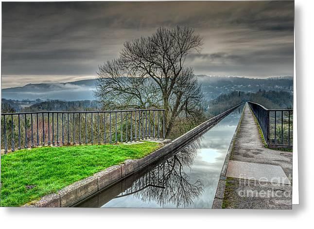 Pontcysyllte Aqueduct Greeting Card by Adrian Evans