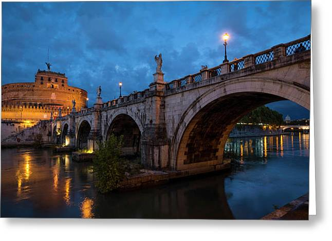 Ponte Santangelo Over River Greeting Card by Panoramic Images