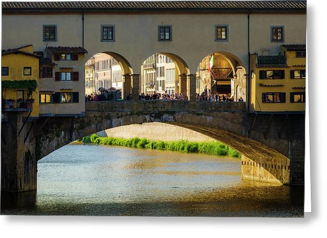 Ponte Vecchio And The Arno River Greeting Card