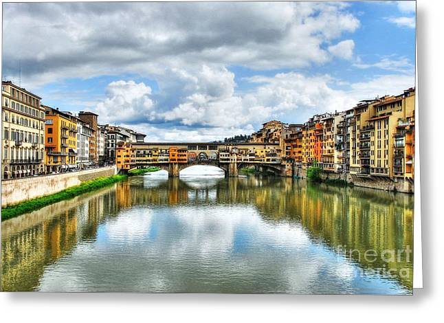 Ponte Vecchio At Florence Italy 2 Greeting Card