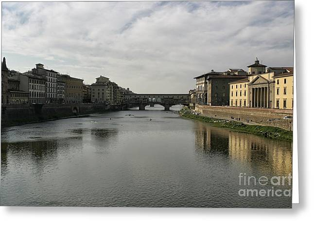 Greeting Card featuring the photograph Ponte Vecchio by Belinda Greb