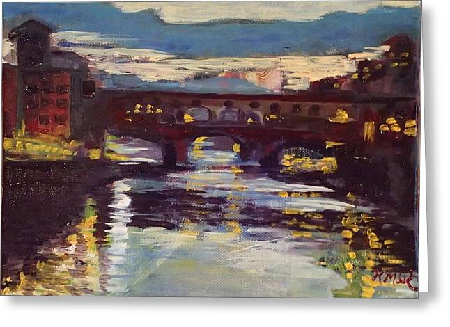 Ponte Vecchio By Night Greeting Card
