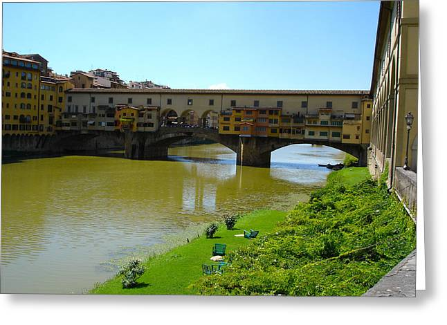 Ponte Vecchio Greeting Card by Chuck Stewart