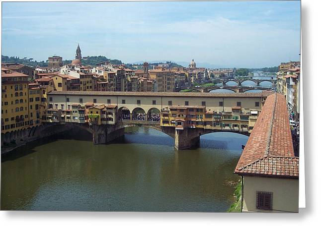 Ponte Vecchio Greeting Card by David Nichols