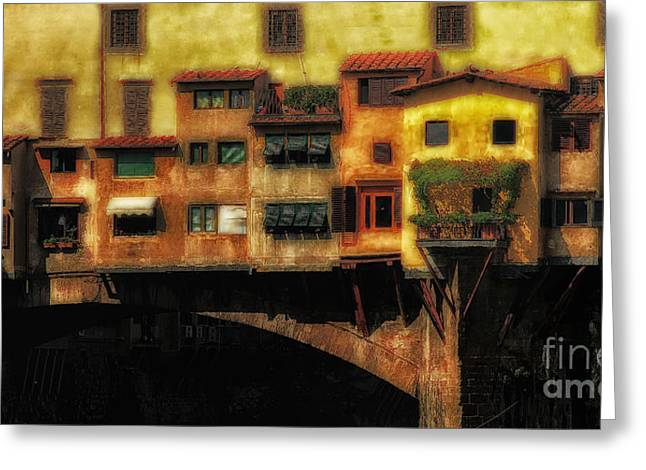 Ponte Vecchio Firenze Greeting Card by Mike Nellums