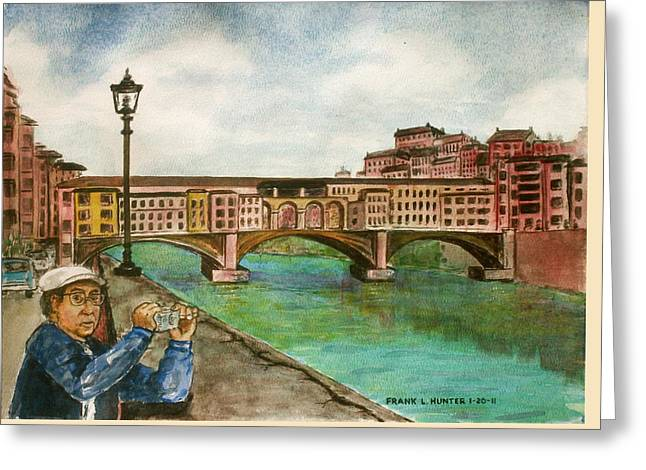 Ponte Vecchio Florence Italy Greeting Card by Frank Hunter