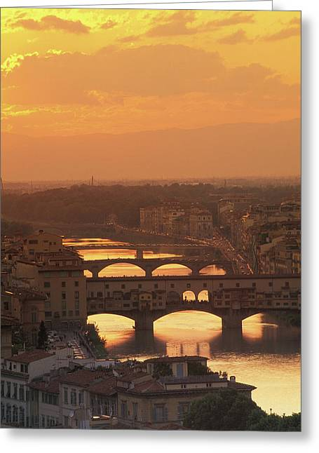 Ponte Vecchio Florence Italy Greeting Card by Panoramic Images