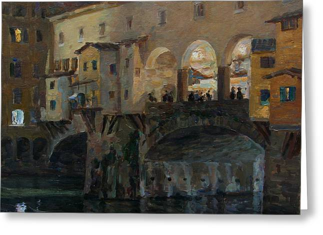 Ponte Vecchio Greeting Card by Korobkin Anatoly