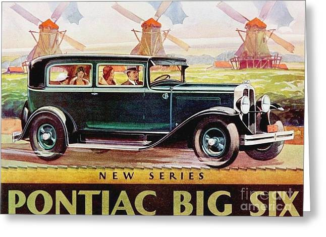 Pontiac Big Six - Poster Greeting Card by Roberto Prusso
