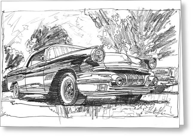 Pontiac Bonneville Study Greeting Card
