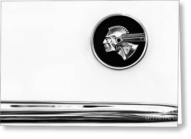 Pontiac Eight Chieftain Monochrome Greeting Card by Tim Gainey