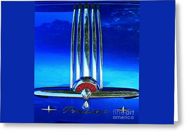 Greeting Card featuring the photograph Pontiac Eight by Linda Bianic