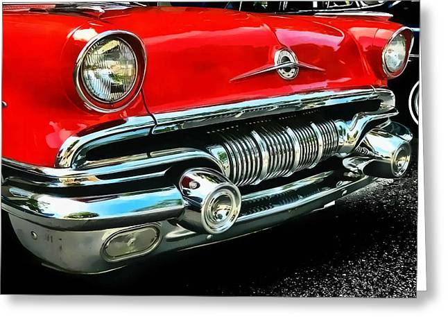 Greeting Card featuring the photograph Pontiac Grill by Victor Montgomery