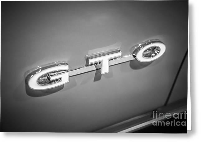 Pontiac Gto Emblem Greeting Card by Paul Velgos