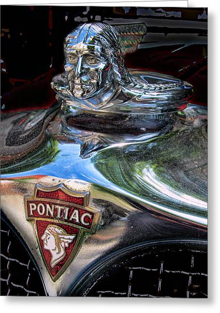 Pontiac Hood Ornament Greeting Card by Victor Montgomery