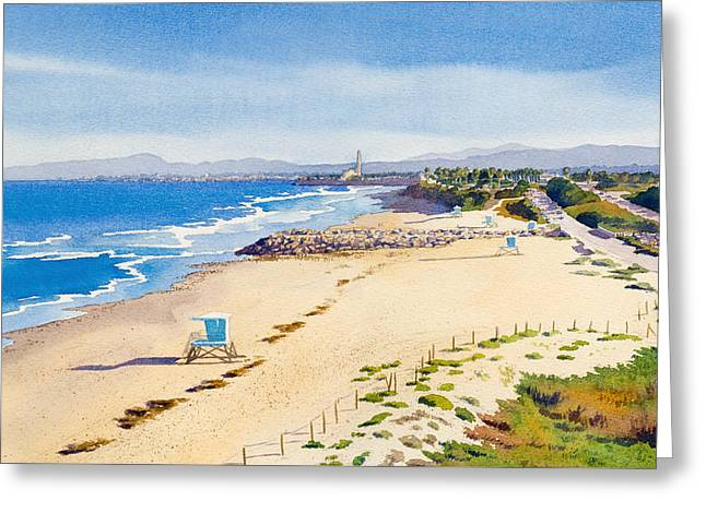 Ponto Beach Carlsbad California Greeting Card by Mary Helmreich