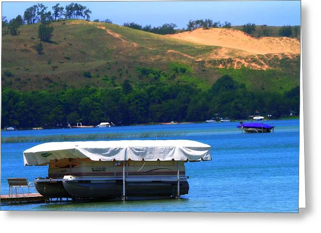 Pontoon At Sleeping Bear Dunes Greeting Card by Dan Sproul