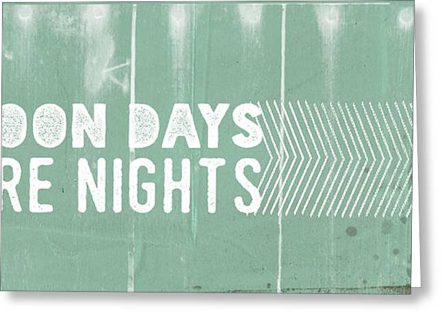 Pontoon Days, Bonfire Nights Greeting Card