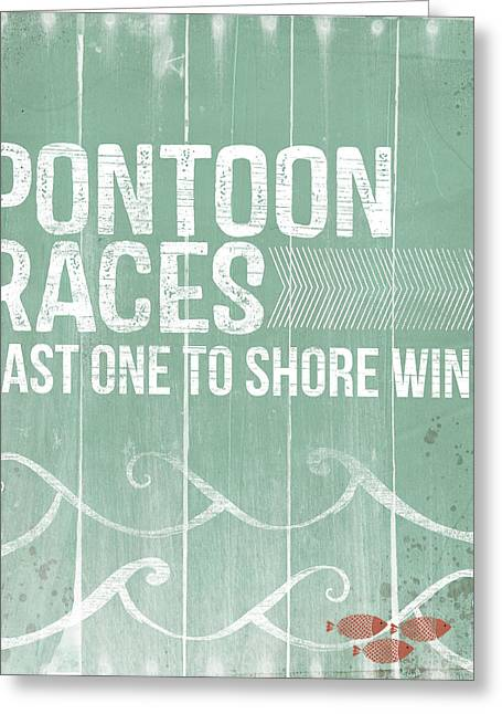 Pontoon Races Greeting Card