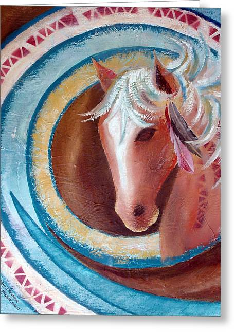 Pony Dreamer Greeting Card by Chris Morningforest