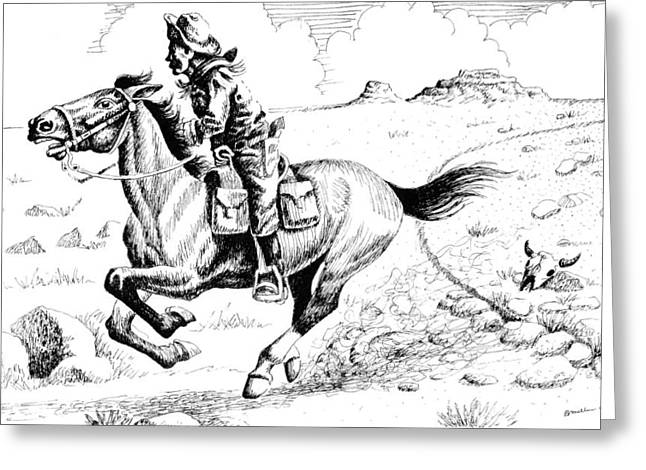 Pony Express Rider Greeting Card