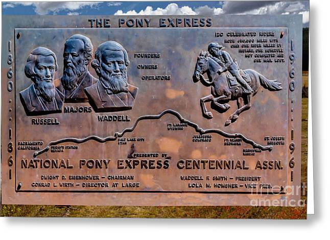 Pony Express Route Greeting Card