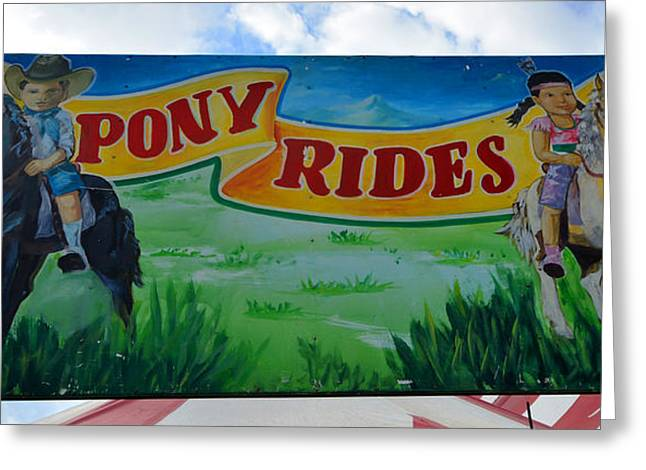 Pony Rides Greeting Card by David Lee Thompson