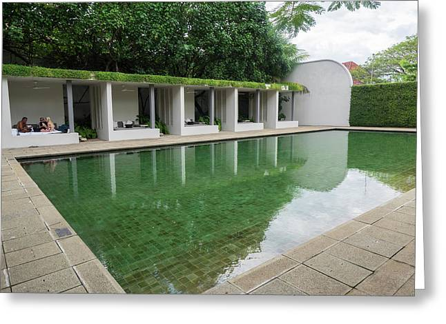 Pool At Amangalla Hotel, Galle Fort Greeting Card
